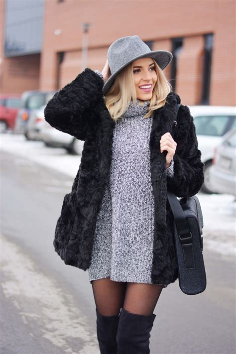 Sweater Dress Outfits Cool Ways To Wear The Sweater Dress Trend - Just The Design