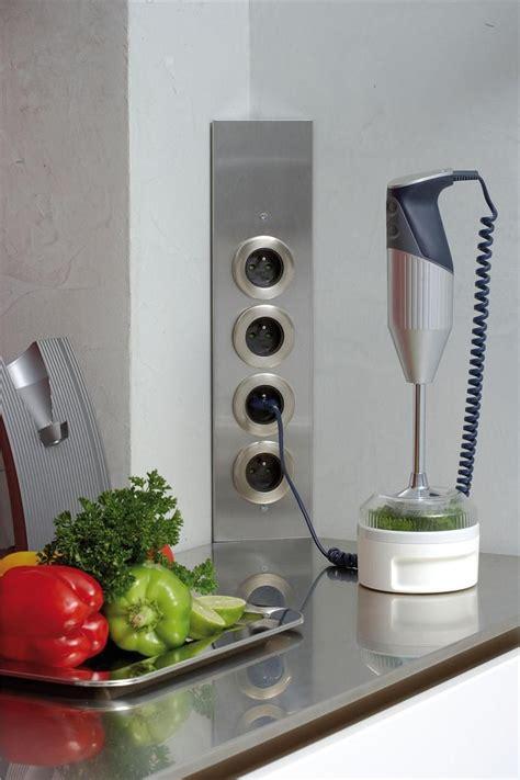 bloc 4 prises cuisine prise de cuisine bloc esquina 2 prises électriques et interrupteur côté maison