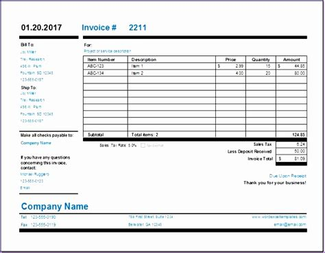 excel  invoice template exceltemplates