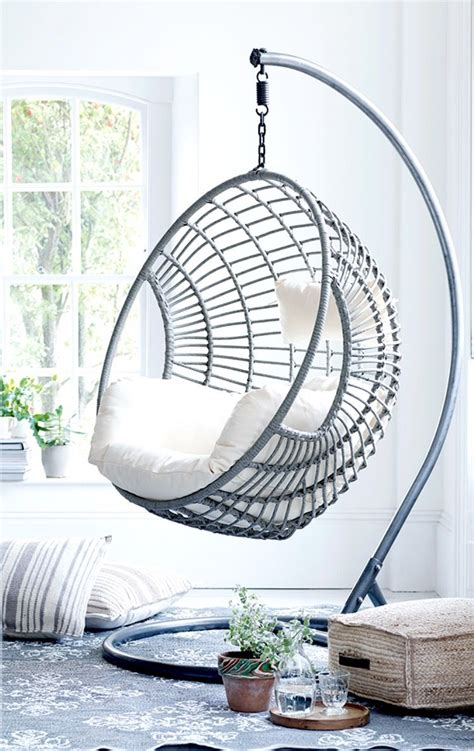 chairs that hang from the ceiling ikea get creative with indoor hanging chairs casa