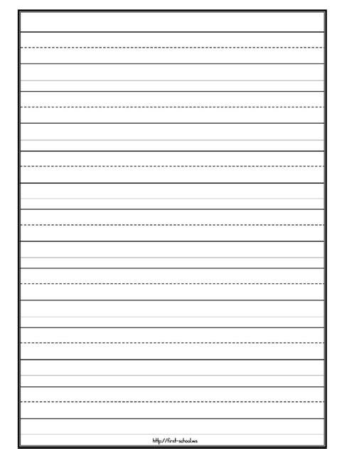 templates paper kindergarten writing kindergarten