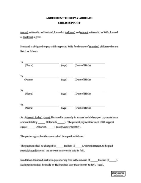 child support agreement template child support payment agreement template sletemplatess sletemplatess