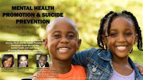 mental health promotion  suicide prevention  black