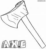 Axe Coloring Pages Print 87kb 1000px Colorings sketch template