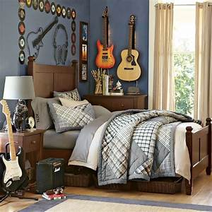 bedroom musical bedroom for teen boy with guitar decor With teenage room decor themes for teenage boy room