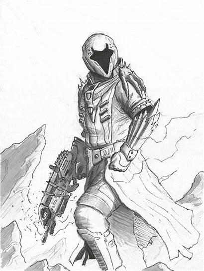 Destiny Warlock Bungie Concept Drawing Fan Drawings