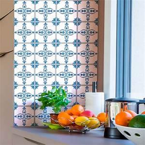 Stickers Carreaux Cuisine : 24 stickers carreaux de ciment delft dordrecht cuisine ~ Preciouscoupons.com Idées de Décoration