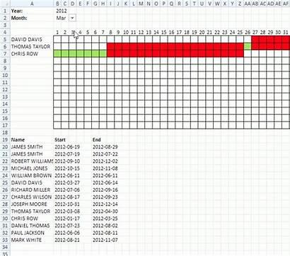 Date Ranges Excel Calendar Template Schedule Plot