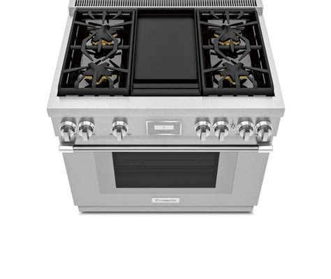 thermador prdwdhu   freestanding dual fuel smart range  home connect integrated