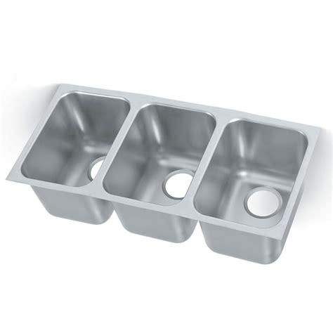 3 compartment kitchen sink vollrath 121031 3 compartment undermount sink 14 quot x 12 quot