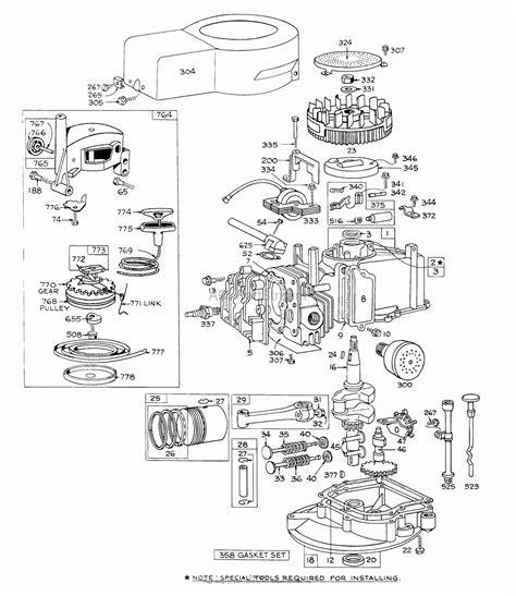 Briggs Stratton Engine Parts Diagram Automotive