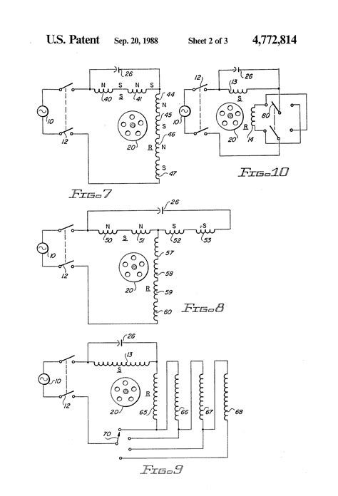 patent us4772814 parallel resonant single phase motor