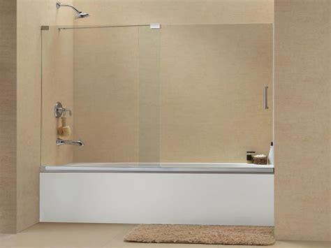 modern tub shower frameless sliding glass doors frameless