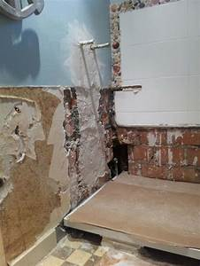 Carrelage Avant Ou Apres Receveur : mise niveau murs salle de bain avant carrelage ~ Nature-et-papiers.com Idées de Décoration