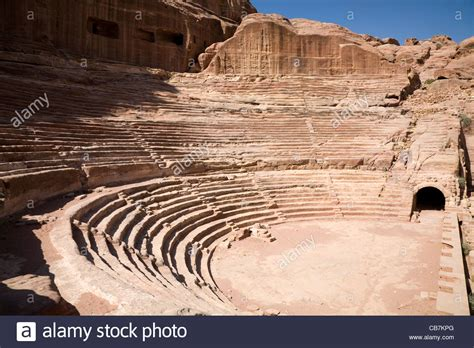Ancient Amphitheatre At The Lost City Of Petra Jordan