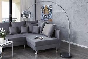 Riess Ambiente De : bogenlampe lounge deal mit marmorfuss chrom 170 210cm ~ Pilothousefishingboats.com Haus und Dekorationen