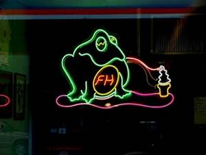 Neon Ice Cream Licking Frog Frog Hut Wellsboro