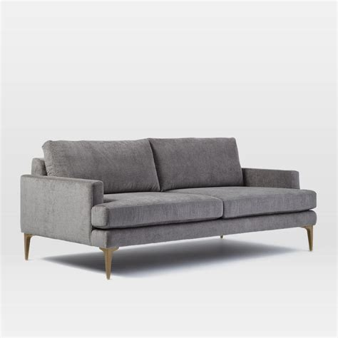 andes sofa  cm metal distressed velvet west elm