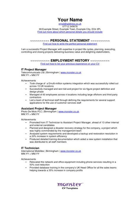 16908 monstercom resume templates resume free excel templates