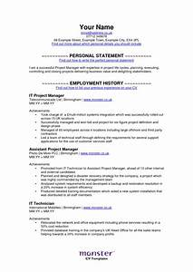 monster resume free excel templates With free resume templates monster