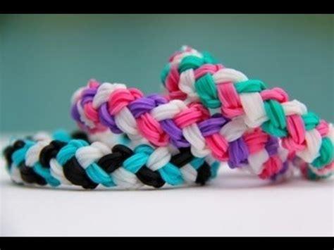rainbow loom double braid bracelet armband loom bands youtube
