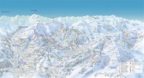 st gervais mont blanc plan des pistes de ski gervais mont blanc