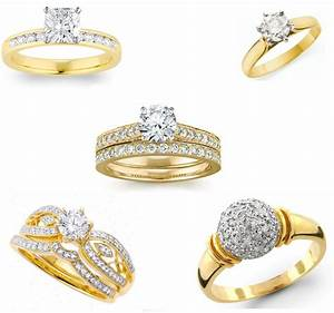 beautiful gold engagement rings for women With gold wedding ring designs