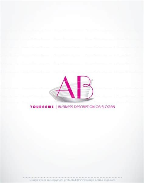 Exclusive Design: Hot pink initial Logo + Compatible FREE ...