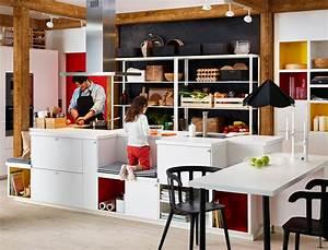 Deco Cuisine Ikea : un ilot central pour ma cuisine les conseils d ikea femme actuelle ~ Teatrodelosmanantiales.com Idées de Décoration