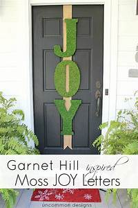 garnet hill inspired moss joy letters holiday door decor With joy wreath letters