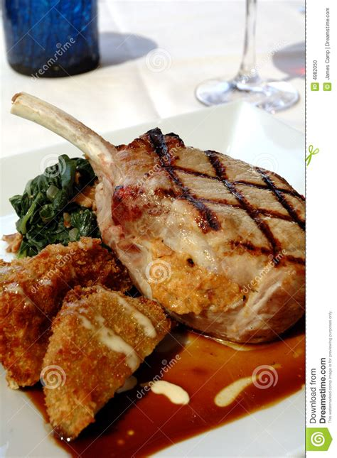 pork chop grill time grilled pork chop stock photo image of dining tomatoes 4982050
