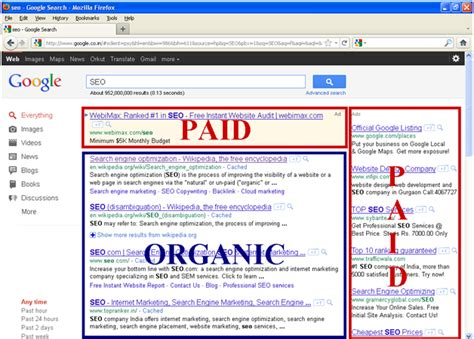 Organic Search Engine Marketing - getting to sem how to use paid search ads to reach