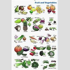 English Kids Fun Fruit And Vegetables