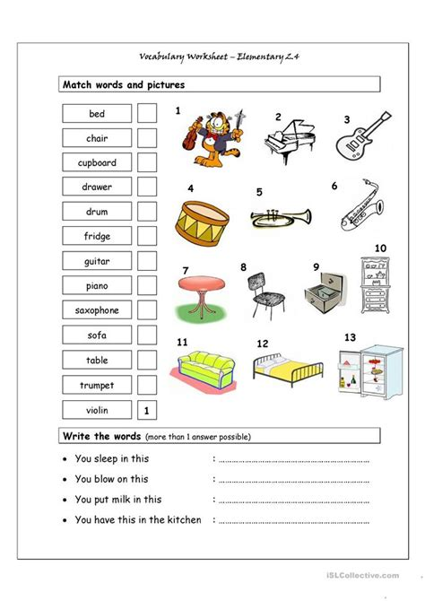 201 Free Esl Music Worksheets