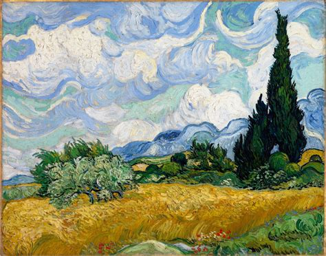 vincent gogh artwork file vincent gogh wheat field with cypresses