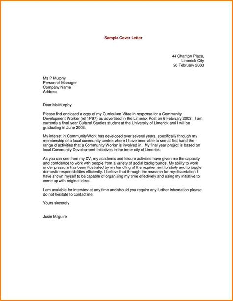 Of Interest Cover Letter by 7 Statement Of Interest Cover Letter Exle