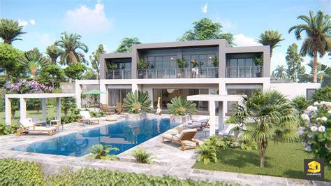 plan villa moderne 3d infographiste architecture villa de luxe