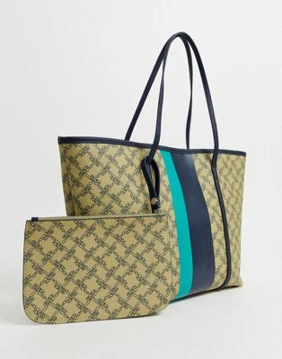 french connection elva monogram tote handbag asos