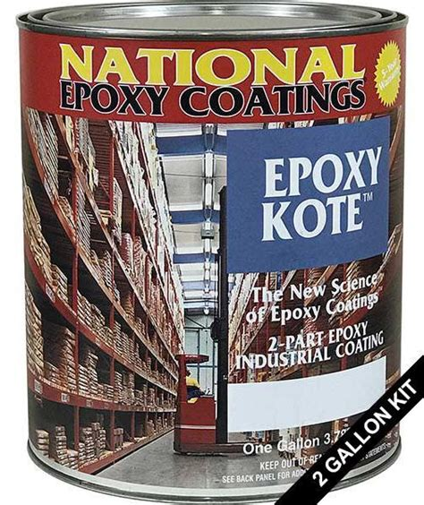 epoxy kote heavy duty concrete epoxy paint  gallon kit
