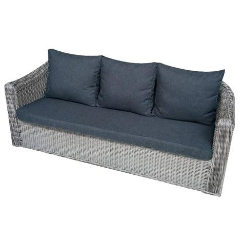canapé à composer canapé de jardin 3 places giglio gris gris anthracite