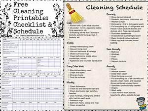 Quarterly Calendar 2015 Printable Free Printable Cleaning Calendar And Checklist The
