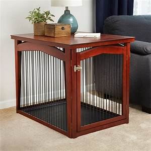 Dog crate table pet gate in pet pens for Dog cage gate
