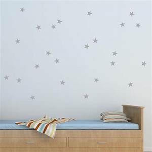 stars wall quotestm wall art decal wallquotescom With good look silver star wall decals