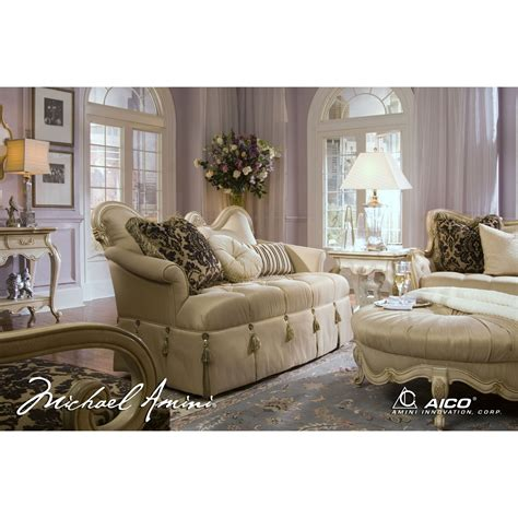michael amini 4pc lavelle blanc living room sofa set by