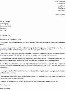 data entry clerk cover letter example icoverorguk With sample cover letter for data entry clerk position