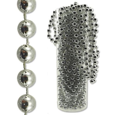 new silver string of pearls bead garland 23m long wedding