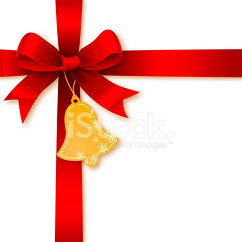 christmas bells bow ribbon ribbon bow with christmas bell tag stock photos freeimages com