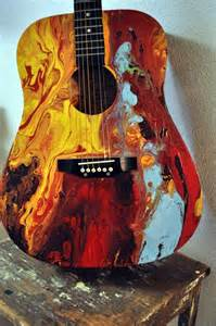 Abstract Guitar Painting