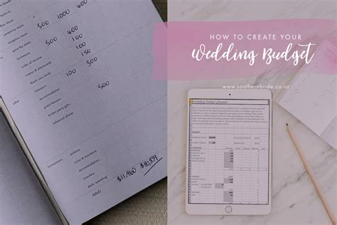 how to create a wedding budget nz southern bride