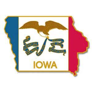 Iowa State Shape Flag